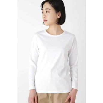 HUMAN WOMAN ヒューマンウーマン 新きょう綿ロングスリーブTシャツ