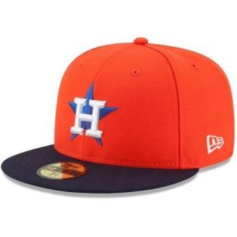 ニューエラ メンズ 帽子 アクセサリー Houston Astros New Era Alternate Authentic Collection On-Field 59FIFTY Fitted Hat Orange/Nav