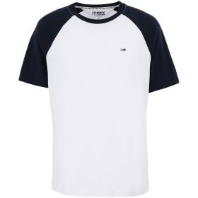 《セール開催中》TOMMY JEANS メンズ T シャツ ダークブルー S コットン 100% TJM CONTRAST SLEEVE