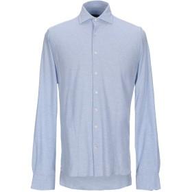 《期間限定セール開催中!》SEVENTY SERGIO TEGON メンズ シャツ スカイブルー 40 コットン 100%