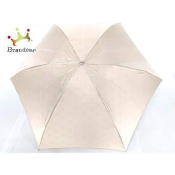 ジバンシー GIVENCHY 折りたたみ傘 美品 アイボリー 化学繊維 新着 20190806
