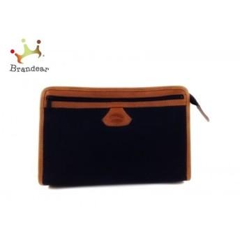 ロンシャン LONGCHAMP セカンドバッグ 黒×ブラウン ジャガード×レザー 新着 20190805
