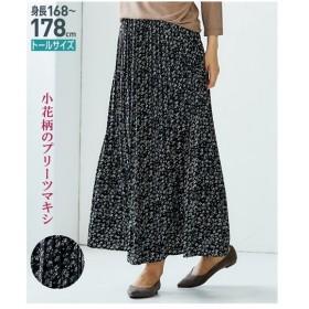ニッセン 花柄消しプリーツマキシスカート