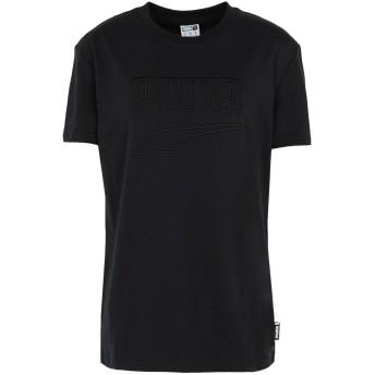 《期間限定 セール開催中》PUMA レディース T シャツ ブラック XS コットン 100% Downtown Tee