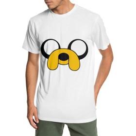 AdventureTime アドベンチャー・タイム 男性 インナー 夏 半袖 吸汗 速乾 個性デザイン おしゃれ プリント 丸ネック Tシャツ