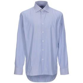 《期間限定セール開催中!》G.F. & CO. メンズ シャツ ブルー 42 コットン 100%