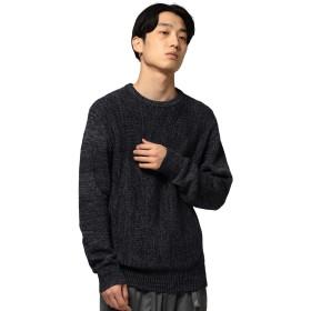 (ビームス) BEAMS ニット・セーター サイド リブ クルーネックニット メンズ ネイビー 紺 L