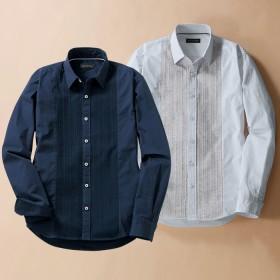 ベルーナ 【2色組】ニット切替デザインシャツ 1 LL メンズ