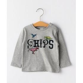 シップス キッズ SHIPS KIDS:恐竜 ロゴ プリント TEE(80~90cm) レディース グレー 90 【SHIPS KIDS】