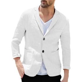 ジャケット メンズ テーラードジャケット 夏 綿麻 サマージャケット アウター カジュアル メンズファッション