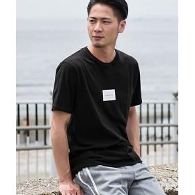 シルバーバレット CavariA天竺プリントクルーネック半袖Tシャツ メンズ ブラック 46(L) 【SILVER BULLET】