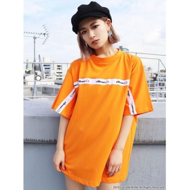 エモダ ラインロゴバルキーTシャツ レディース オレンジ F 【EMODA】