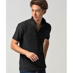 シルバーバレット CavariAループテレコイタリアンカラー半袖ポロシャツ メンズ ブラック 44(M) 【SILVER BULLET】