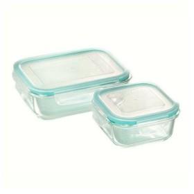 ヒロショウ CLARTE(クラルテ) 耐熱ガラス製 保存容器2点セット CTH-002 (1270680)