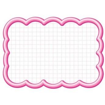4974268531544 タカ印 抜型カード 16−4196 雲形大 ピンク