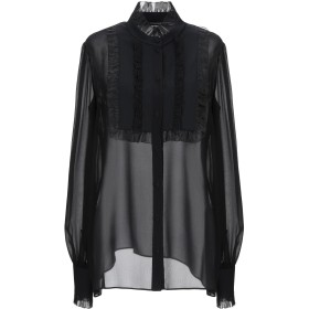 《期間限定 セール開催中》DOLCE & GABBANA レディース シャツ ブラック 38 シルク 99% / ポリウレタン 1%
