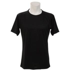 (SPORTS AUTHORITY/販売主:スポーツオーソリティ)エスエーギア/メンズ/半袖丸首ベーシックアンダーシャツ/メンズ ブラック