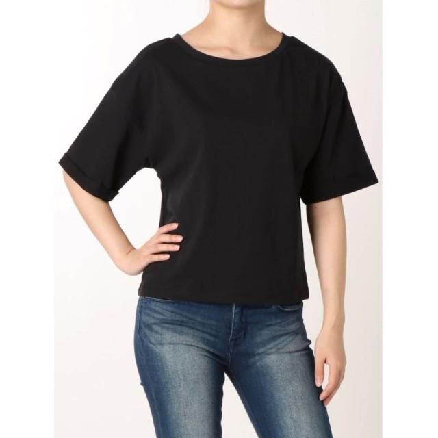 【49%OFF】 リゼクシー ロールアップスリーブTシャツ レディース ブラック F 【RESEXXY】 【セール開催中】
