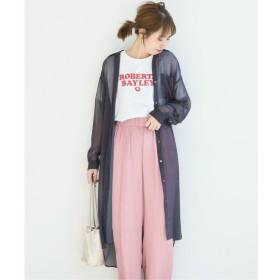 【スピック&スパン/Spick & Span】 VILLEFRANCHE シースルードットシャツ◆