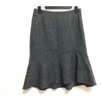 エムズグレイシー M'S GRACY スカート サイズ38 M レディース グレー×黒 ラメ【中古】20190713