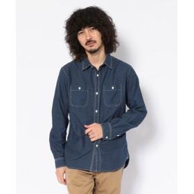 ショット WABASH WORK SHIRT/ウォバッシュ ワークシャツ メンズ ROYAL M 【Schott】