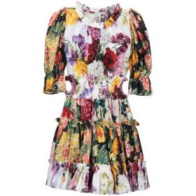 《セール開催中》DOLCE & GABBANA レディース ミニワンピース&ドレス ホワイト 40 コットン 100%