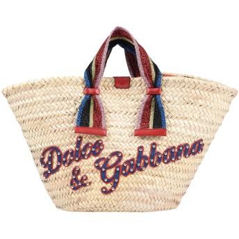 《セール開催中》DOLCE & GABBANA レディース ハンドバッグ ベージュ ストロー 80% / 牛革(カーフ) 10% / ナイロン 8% / ポリエステル 2%