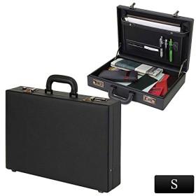 ビジネスバッグ メンズ 通勤 B4ファイル対応 アタッシュケース S ブラック 24-0342