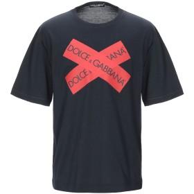 《セール開催中》DOLCE & GABBANA メンズ T シャツ ダークブルー 44 コットン 100%