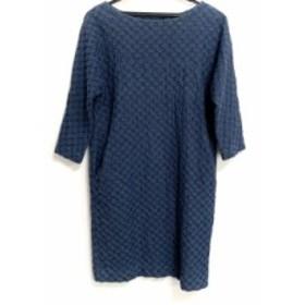 ドゥクラッセ DoCLASSE ワンピース サイズ9 M レディース 美品 ネイビー×ブルー 刺繍【中古】20190711