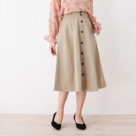 [マルイ]【セール】フロントボタンフレアスカート/ピンクアドベ(pink adobe)