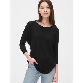 Gap ソフトスパン ラグランクルーネックTシャツ