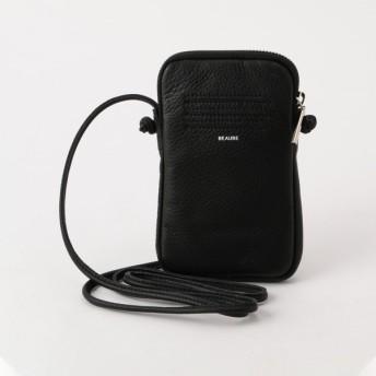 Beau're レザージップ携帯ポシェット 9-0532-1-32-101