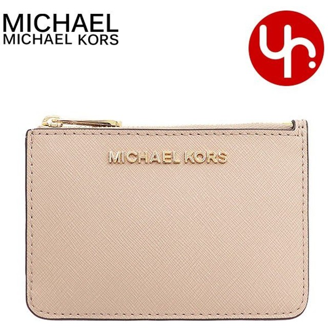 マイケルコース MICHAEL KORS 財布 コインケース 35F7GTVU1L ビスク ジェット セット トラベル レザー スモール ID キーリング コイン アウトレット レディース