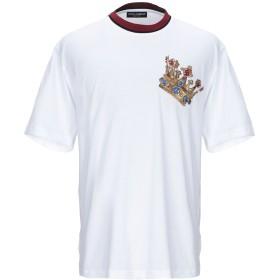 《期間限定セール開催中!》DOLCE & GABBANA メンズ T シャツ ホワイト 44 コットン 100% / ポリウレタン