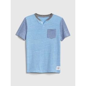 Gap キッズ ヘンリー半袖Tシャツ
