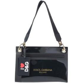 《期間限定 セール開催中》DOLCE & GABBANA レディース 肩掛けバッグ ブラック ポリ塩化ビニル 60% / レーヨン 20% / ポリウレタン 10% / コットン 10%