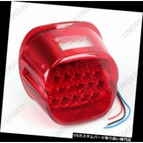 USテールライト 12V赤22 + 4 LEDテールブレーキナンバープレートライト4ハーレースポーツスターソフテイルダイナ  12V Red 22+4 LED Tail