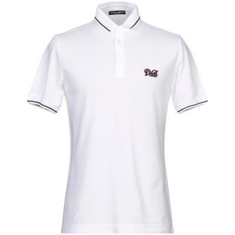 《期間限定セール開催中!》DOLCE & GABBANA メンズ ポロシャツ ホワイト 44 コットン 100%