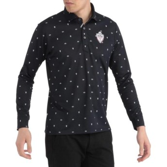 MIZUNO SHOP [ミズノ公式オンラインショップ] プリントシャツカラー長袖シャツ[メンズ] 14 ディープネイビー 52MA9535