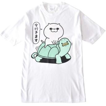(アルージェ) ARUGE ヨッシースタンプ YOSISTAMP うさぎ くま ひよこ ねこさま 半袖 Tシャツ メンズ / C2G / M B柄80-90ホワイト
