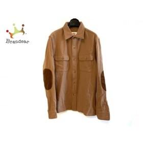 バテンウェア Battenwear 長袖シャツ メンズ ライトブラウン×ダークブラウン 新着 20190807
