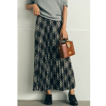 MAYSON GREY / 【socolla】バイアスチェックプリーツスカート