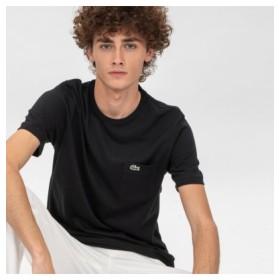 (LACOSTE/ラコステ)ベーシッククルーネックポケットTシャツ (半袖)/メンズ ブラック 送料無料