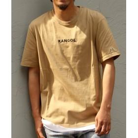 (VENCE EXCHANGE/ヴァンスエクスチェンジ)別注 KANGOL カンゴール 刺繍Tシャツ/メンズ ベージュ