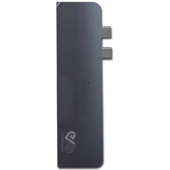 ドッキングステーション 7 in 1 USB Type-C for Macbook Pro Thunderbolt 3 / HDMI / USB3.0 x2ポート / SDカードリーダー 海外リテール JPTCH02 ◆メ
