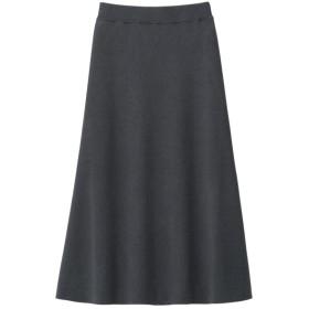 (GU)ニットフレアスカート+E BLUE L