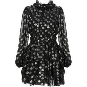 《セール開催中》DOLCE & GABBANA レディース ミニワンピース&ドレス ブラック 46 シルク 89% / 金属繊維 11%