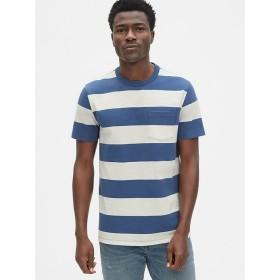Gap 厚手ストライプ ポケットTシャツ