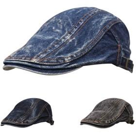 BIGHAS メンズ ハンチング 帽子 キャスケット カジュアル おしゃれ キャップ サイズ調整可能 アウトドア (103ブルー)